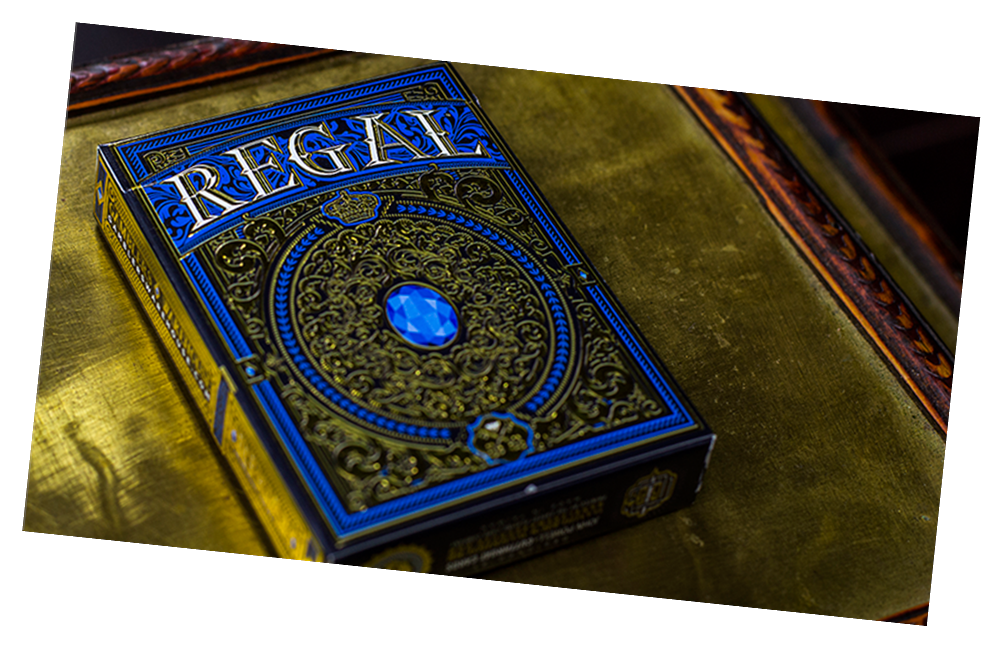 Regal Playing Card Deck (Blue) by Gamblers Warehouse