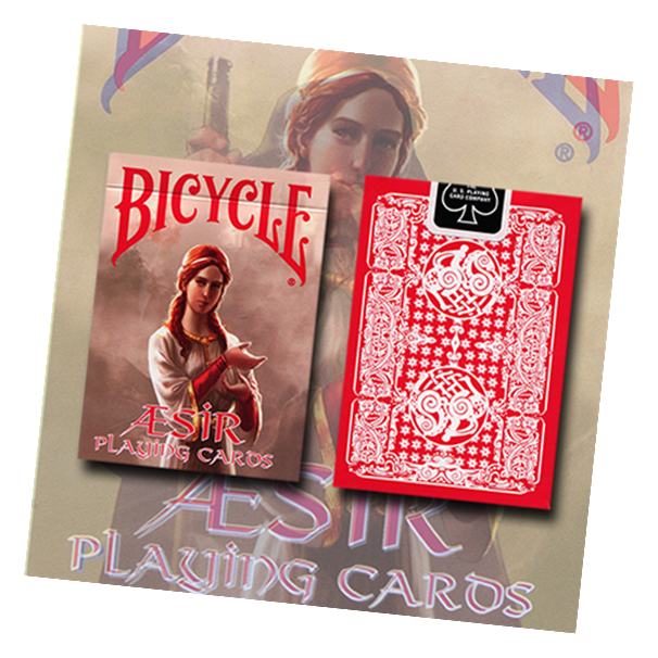 Bicycle AEsir Red Viking Gods Playing Card Deck by US Playing Card Co