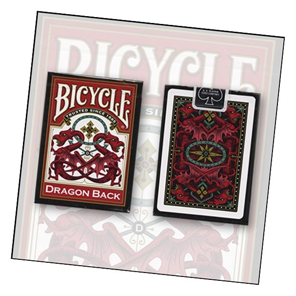 Bicycle Dragon Back Cards (Red) by USPCC - Trick