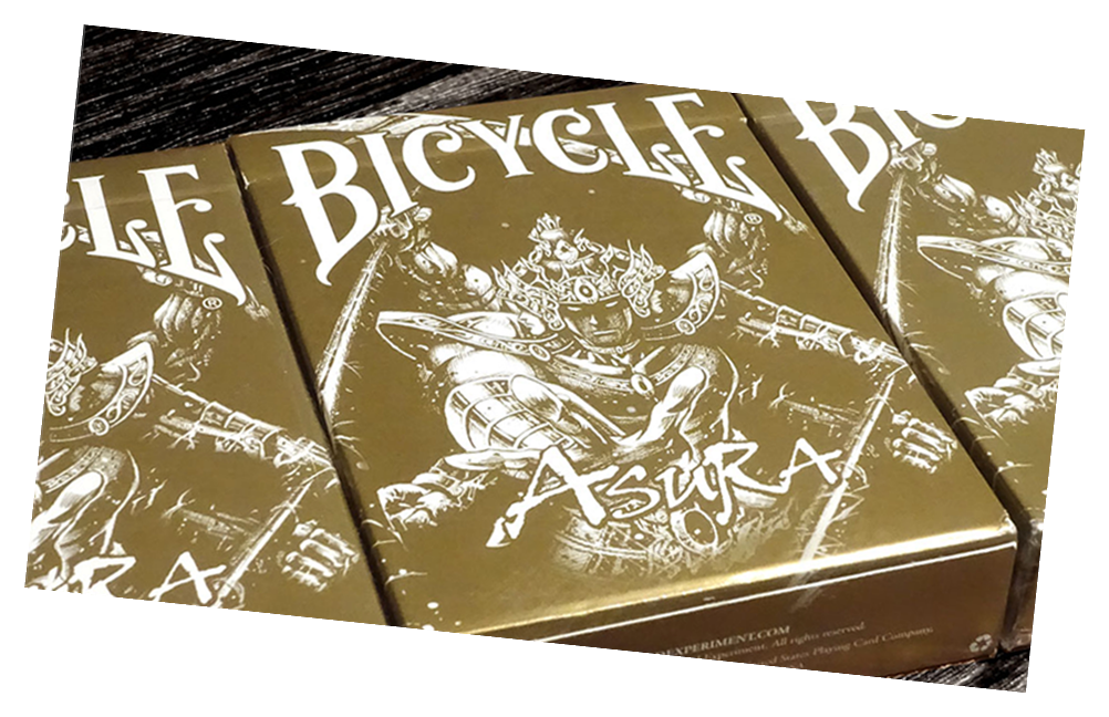 Bicycle Gold Asura Playing Card Deck - USPC Bee Stock with Magic Finish