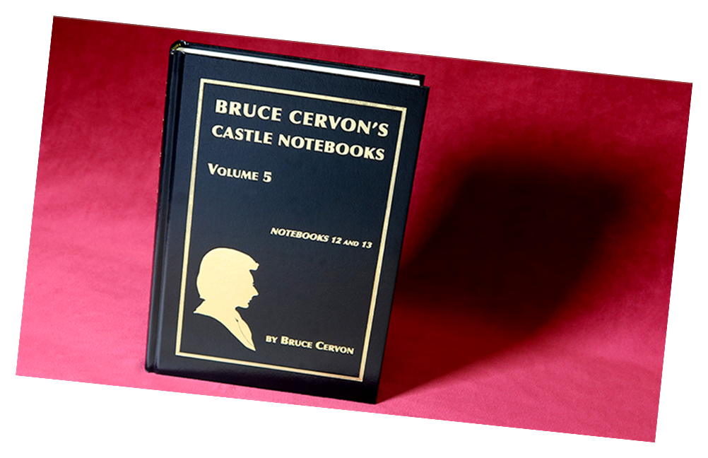 Bruce Cervon Castle Notebook - Vol. 5 Underground Card Magic Now Out of Print