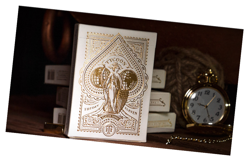 Tycoon Ivory Playing Card Deck by Theory 11 - Collectible Cardistry Cards