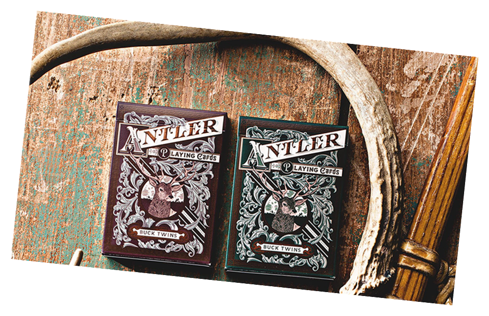 Antler Maroon Playing Card Deck by Dan and Dave