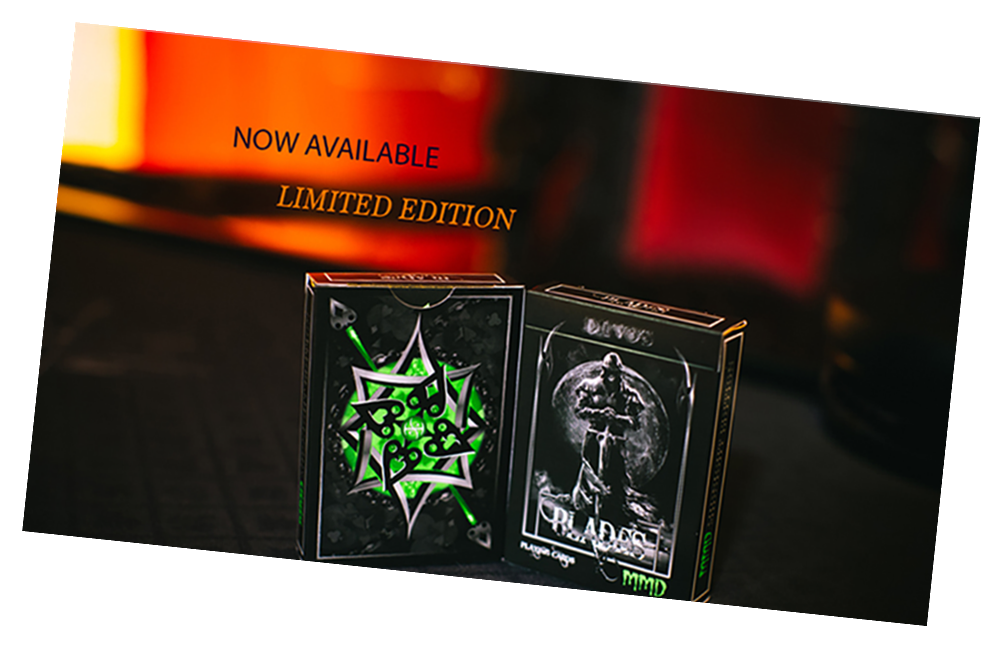 Blades Blood Spear Emerald Edition Playing Card Deck by World Card Experts