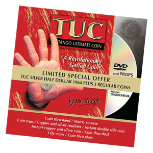 Limited Special Silver TUC Half Dollar 1964 plus 3 Matching Coins by Tango - Trick