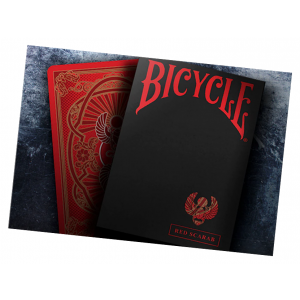 Bicycle Scarab (Red) Playing Card Deck by Crooked Kings