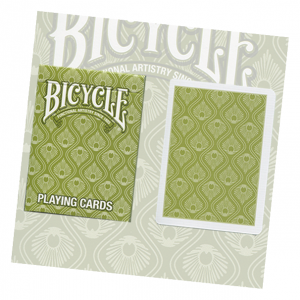 Bicycle Green Peacock Playing Card Deck y USPCCb