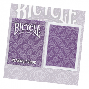 Bicycle Purple Peacock Playing Card Deck by USPCC