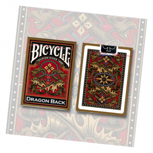 Bicycle Dragon Back Playing Card Deck (Gold) by USPCC