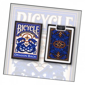 Bicycle Blue Dragon Back Playing Card Deck by USPCC