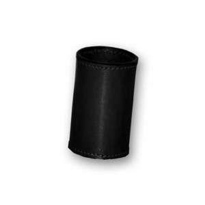 Black Leather Coin Cylinder - Dollar Size for Coin Magic Tricks
