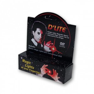 D'Lite Bonus Pack Regular Pair Ultra Bright Red with DVD  - Rocco Magic Trick