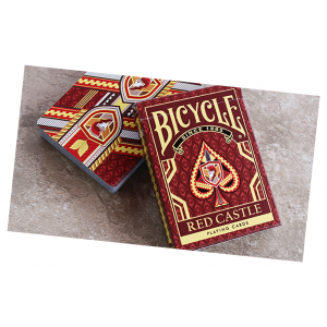 Bicycle Red Castle Playing Card Deck by Collectable Playing Cards