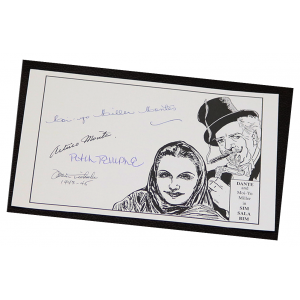 Dante the Magician Book Plate with Autographs
