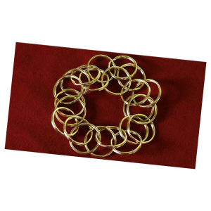 Misers Rings by Merlins of Wakefield - Chain Ring Magic Trick Puzzle