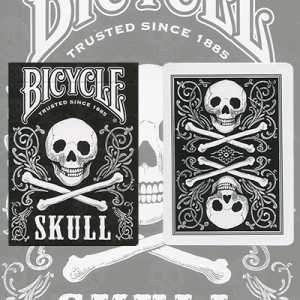 Bicycle Black Skull Deck